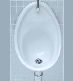 white ceramic wall hung urinal sanitary
