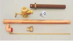 Normal pressure concealed toilet flush valve 20mm
