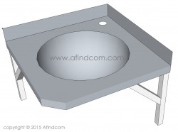 corner basin stainless steel hands free industrial commercial sink