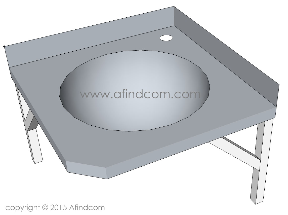 Single Stainless Steel Basins Wall Hung Basin