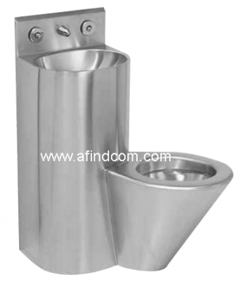 prison combination toilet hand wash basin