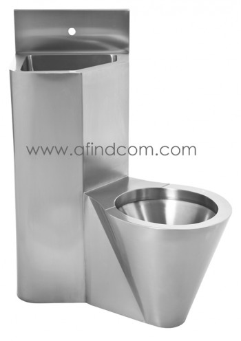 Prison toilet wc basin combination back to wall stainless steel supplier africa