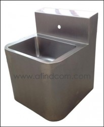 heavy duty prison wall hung basin stainless steel ove model osb1a