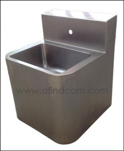 heavy duty prison wall hung basin stainless steel