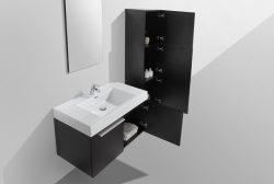 medium size bathroom vanity cabinet black modern