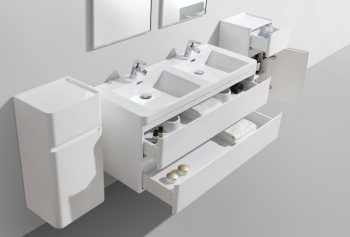 compact double basin drawer bathroom cabinet