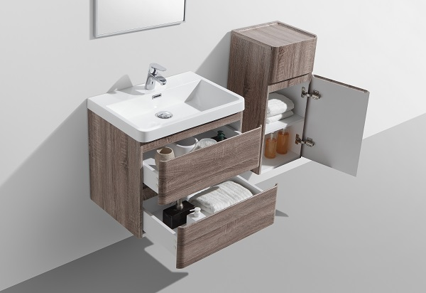 Small Double Drawer Bathroom Cabinet