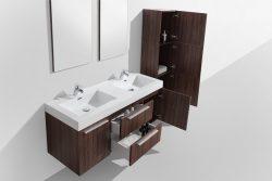 Wallnut double basin bathroom cabinet south africa zambia botswana mozambique
