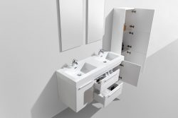 bathroom large double bowl wall hung modern cabineets