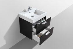 compact wall hung bathroom vanity drawers dark wood