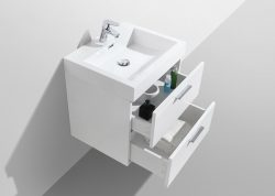 compact size bathroom vanity white basin combo modern design