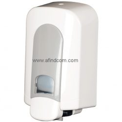 white plastic affordable soap dispenser