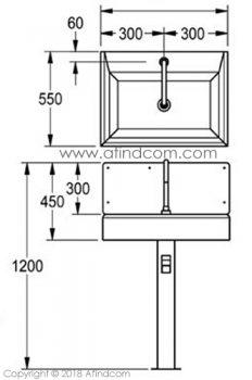 hands free knee basin measurements