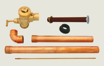 toilet WC-106C hidden flush valve