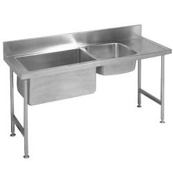 Franke S1P1 double bowl preparation sink stainless steel