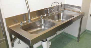 hospital sluice sink combo combination high level cistern sink south africa sadc supplier zambia zimbabwe malawi nigeria mozambique