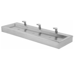 Flat bed hand wash basin