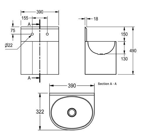 fswsb-heavy-duty-hand-wash-basin-diagram