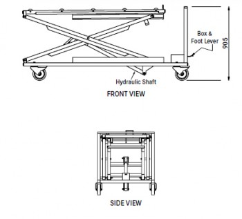 ET post mortem elevation trolley 359848 diagram