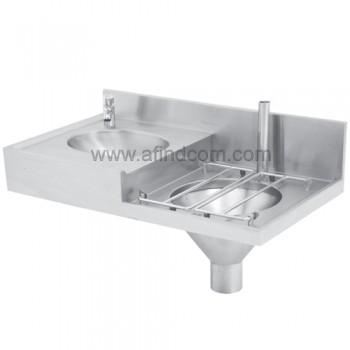 chbc slop hopper basin combination hospital sink sluice 351360 356664 franke