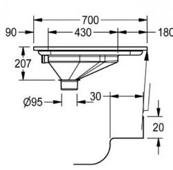 prison squat pan diagram dimensions south africa supplier