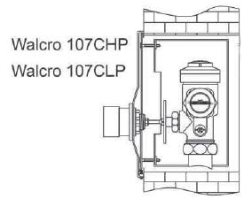 concealed flush valve