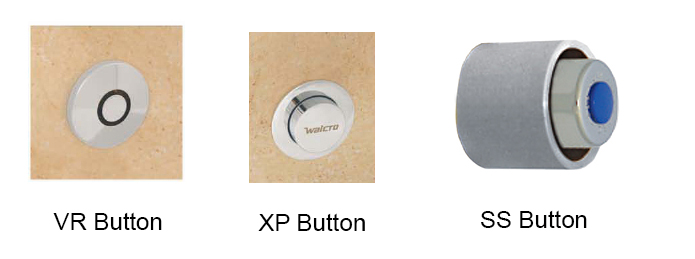 Industrial concealed flush valve actuation buttons
