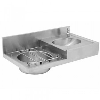 Drip sink right hand for hospitals