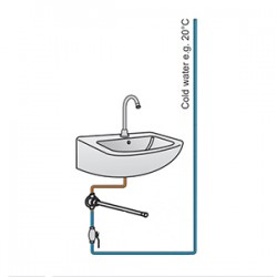 cold water hands free wash basin system hands free