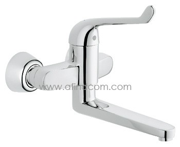elbow action medical tap wall mount long spout