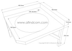 Stainless steel corner basin diagram