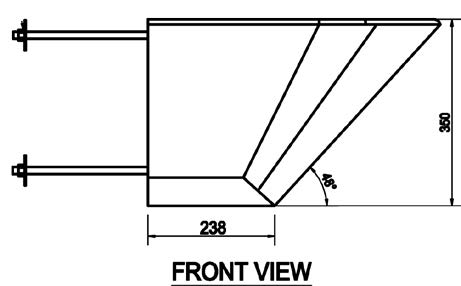 Cmpx592 Prison Wall Hung Toilet Side View Diagram