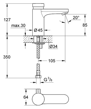 metered-tap-with-thermostat-36317000-diagram
