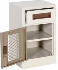 hospital vanity bed lockable mesh drawer white epoxy coated