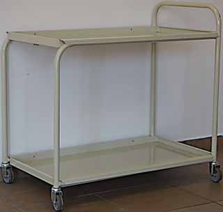 hospital medicine trolley two shelves 2