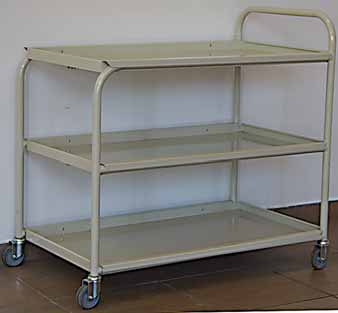 hospital medicine trolley three shelves 3