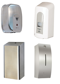 Hands free soap dispensers