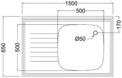 single-bowl-atering-sink-diagram-top