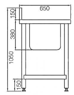 single-bowl-pot-sink-diagram-side
