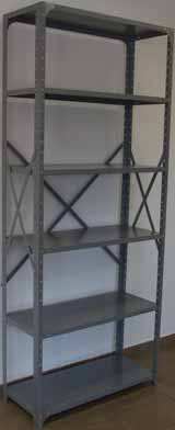 Open steel modular shelving