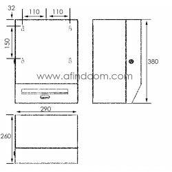 Franke RODX630 hands free paper towel dispenser diagram