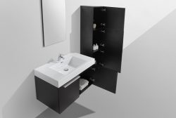 medium size bathroom vanity cabinet black modern