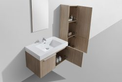 medium size bathroom vanity cabinet oak wood light modern
