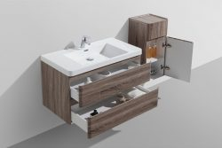 wood finish bathroom vanity drawers supplier