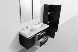 large double basin black wall hung vanity