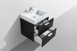 compact wall hung bathroom vanity drawers dark wood