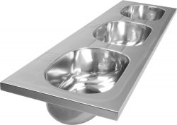 mulit bowl basins stainless steel schools