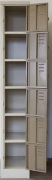 six 6 compartment steel locker supplier hostel school mine change room