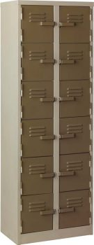 12 compartment double row large locker school