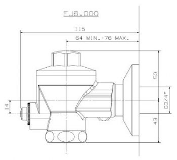 fj6-001 diagram urinal flush valve
